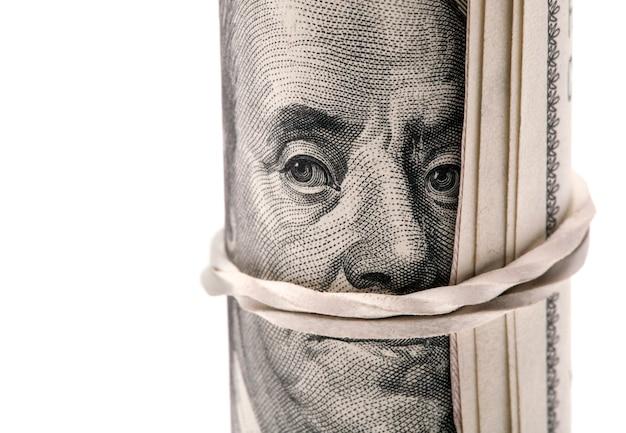 Доллар ролл, изолированные на белом