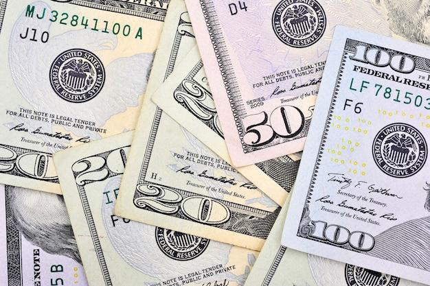 Доллар сша банкноты наличными кучу фон
