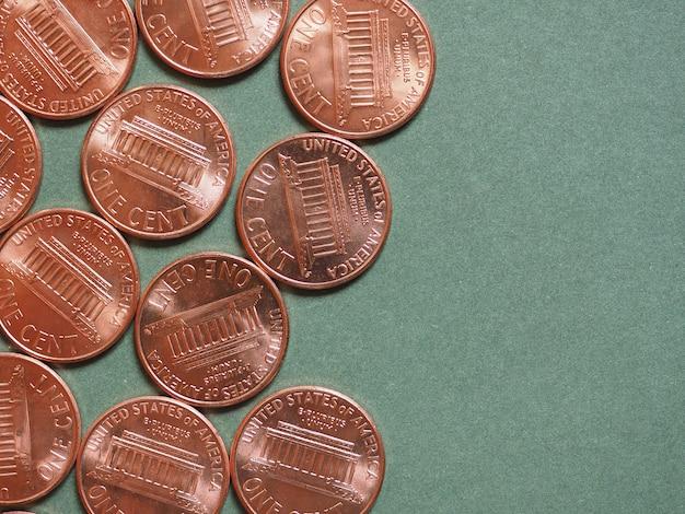달러(usd) 동전, 미국(usa)의 통화