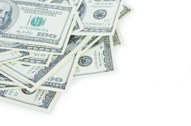 Доллары на белой стене