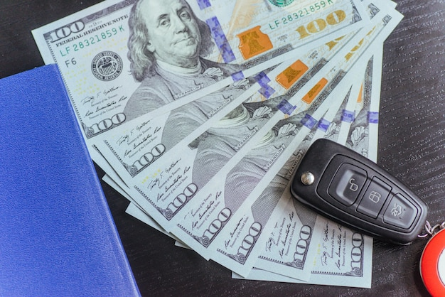 Dollars, passport and keys to the car.