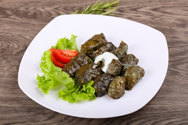 Dolma - stuffed meat in grape leaves