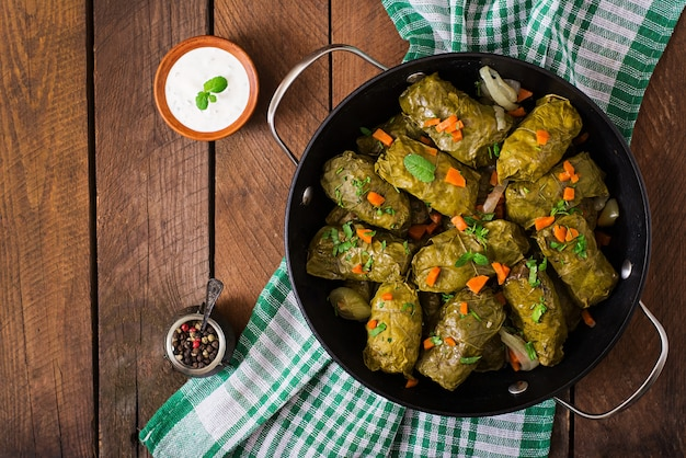 Dolma stuffed with rice and meat
