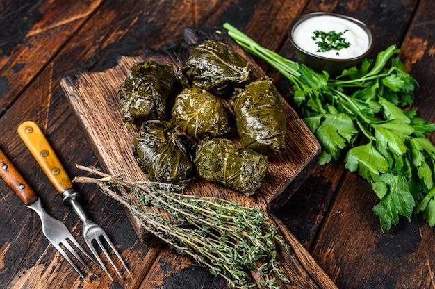 Долма традиционной кавказской, турецкой и греческой кухни.