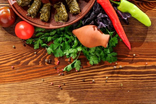 Долма, традиционная грузинская кухня.