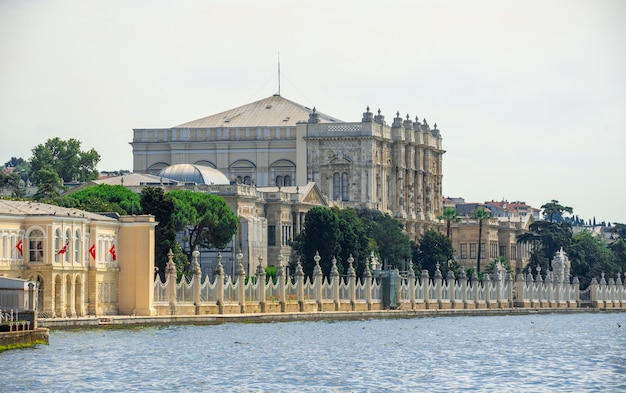Dolmabahce embankment in istanbul, turkey