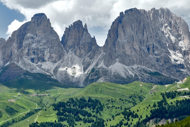 Dolomite rock mountains