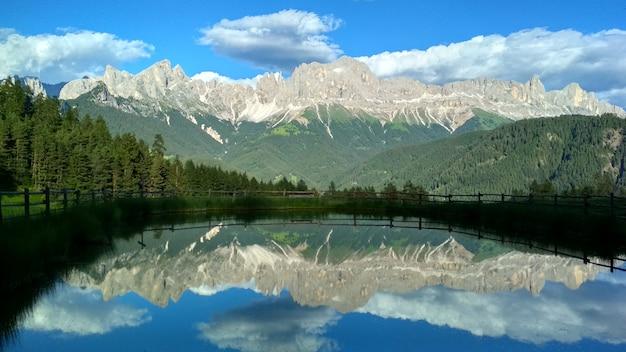 Dolomites, south tyrol. location auronzo, italy, europe. dramatic unusual scene.