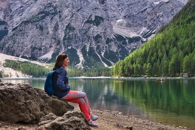 ドロミテズムの風景、イタリアのディブレイ湖。
