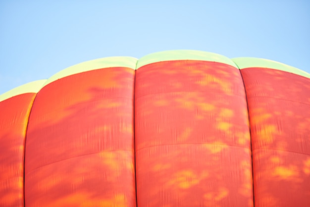 The dome of the balloon the background texture