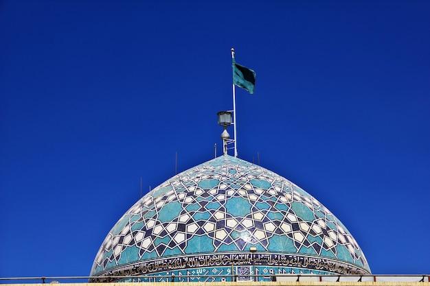 The dome of imam zadeh jafar mausoleum mirror mosque yazd iran