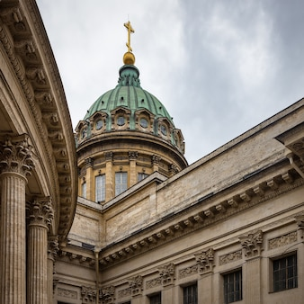 Dome of the kazan cathedral st petersburg russia
