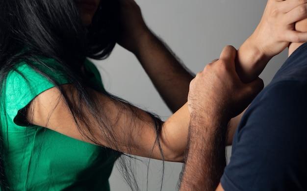 Domestic violence. husband and wife quarrel