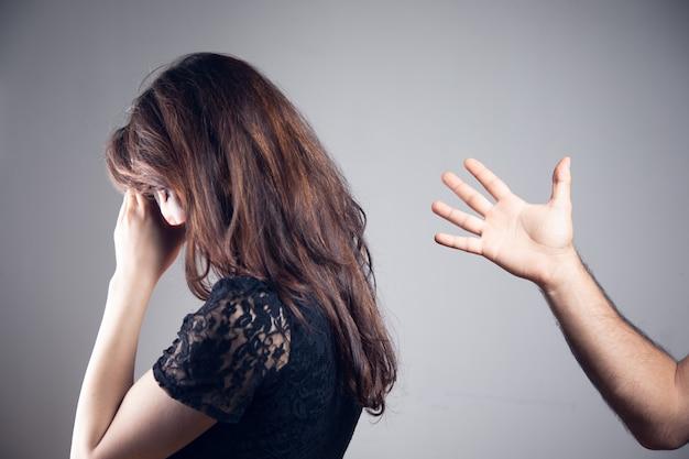 Domestic violence. husband yells at wife