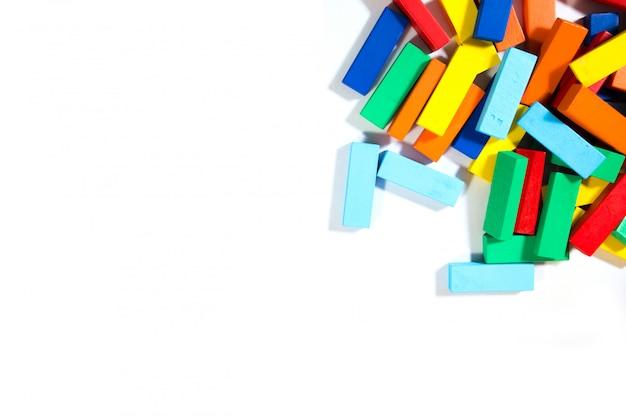 Dominoesl block of gay isolated on white background.