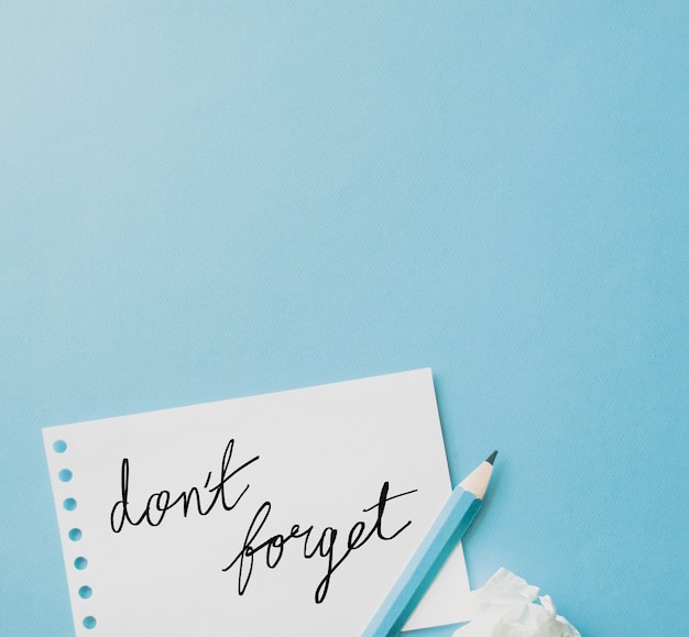메모를 잊지 마세요
