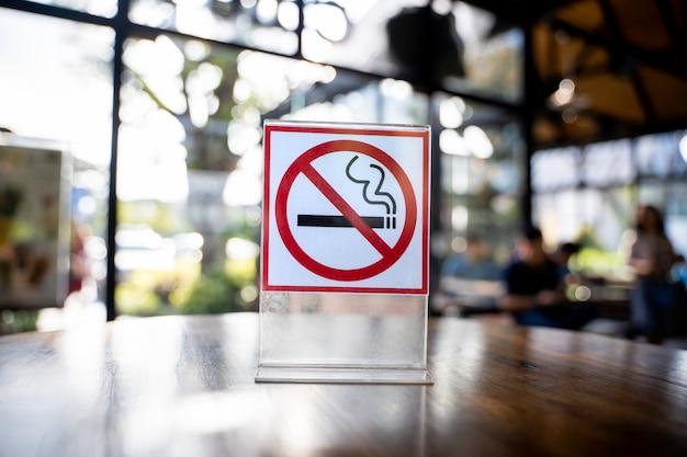 Знак «не курить» знак «не курить» в кафе-кафе