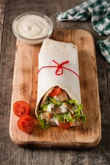 Doner kebab or shawarma sandwich