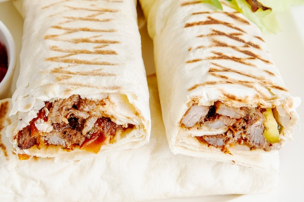 Doner wrapped in lavash