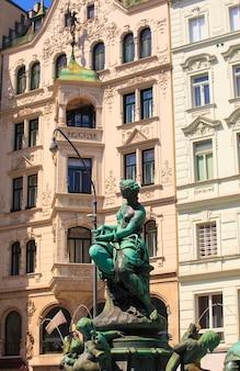 Donnerbrunnen fountain in vienna, austria