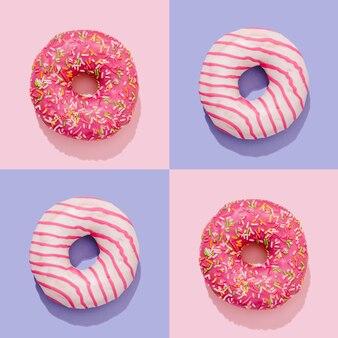 Композиция пончиков в стиле поп-арт
