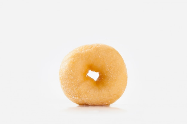 Donut isolated on white background with space for copy.
