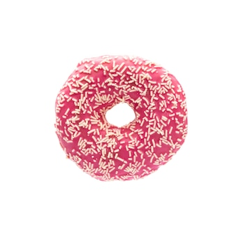 Donut isolated on a white background.