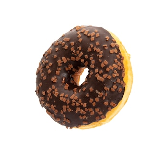 Donut isolated on a white space.