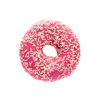 Donut isolated on a white