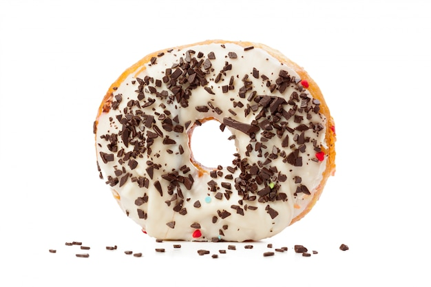 Donut isolated on white