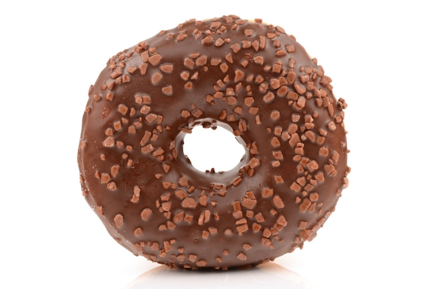 Donut on a white