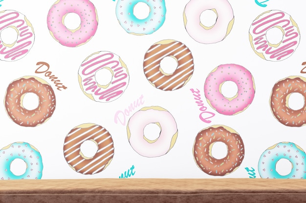 Donuts background and sofa