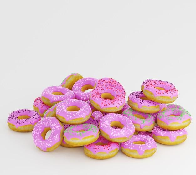 ドーナツはアイシングを飾り、白に振りかける。