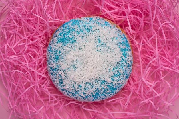 Copyspace와 장식 도넛입니다. 달콤한 도넛.