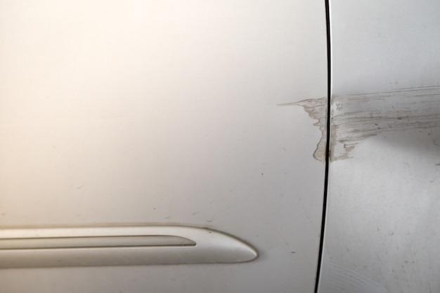 Door car crash after accident background