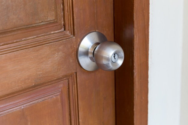 Door handle closeup