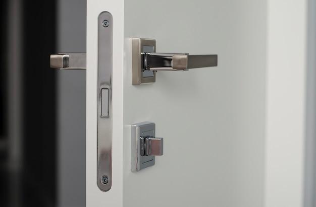 Door handle with lock. door handle for door or cabinet. furniture accessories.