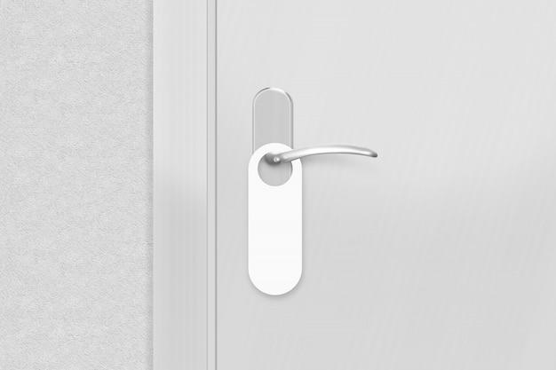 Door knob with blank doorhanger mock up