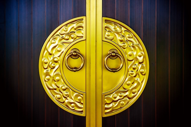 Door knockers in the temple of heaven in beijing