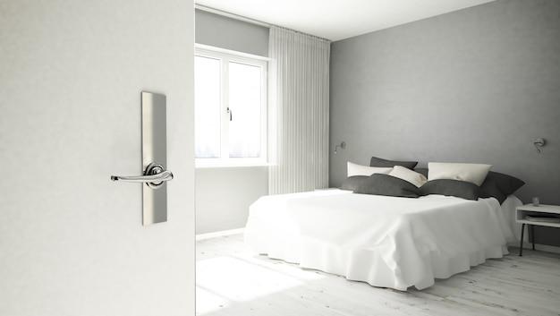 Door opening hotel room