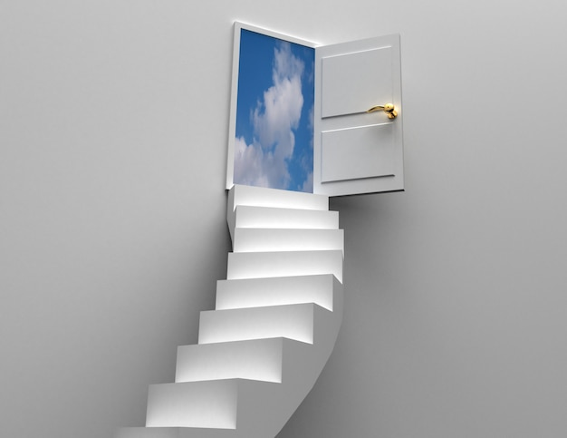 Door and stairs concept