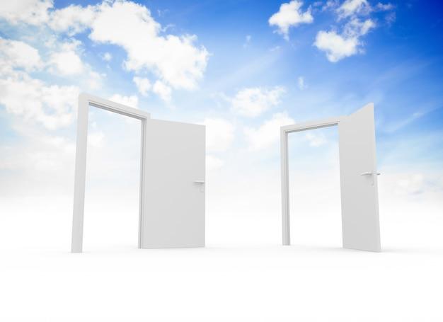 Doors in sky