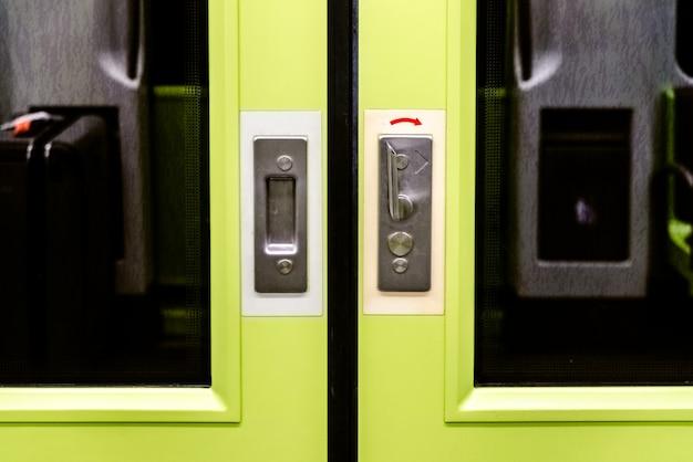 Doors of a subway car.