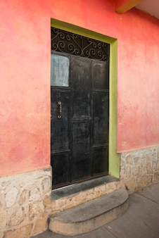 Doorway of a house, barrio el centro, copan, copan ruinas, honduras