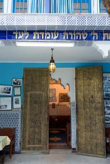 Doorway of lezama synagogue, mellah, medina, marrakesh, morocco