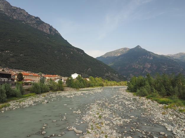 Dora baltea river in donnas