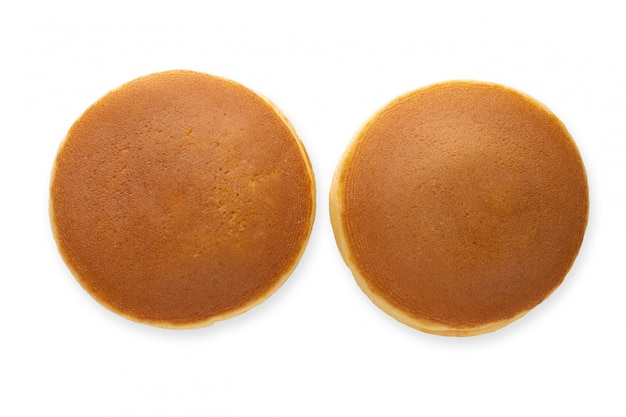 Dorayaki is japanese pancakes isolated
