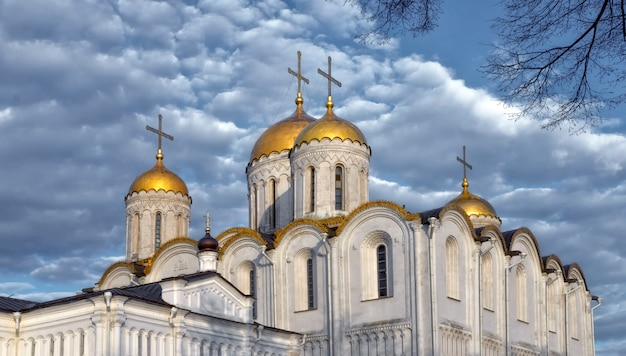 Dormition cathedral (assumption cathedral) and bell tower in vladimir, russia