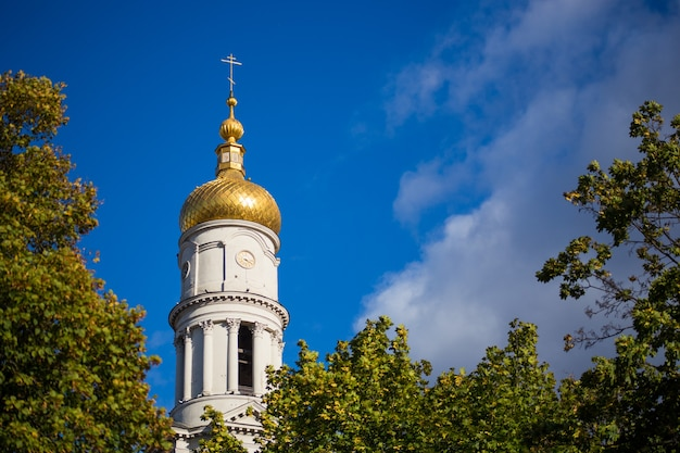 Dormition cathedral in the center of kharkiv