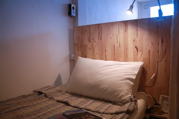 Dormitory room in hostel handmade decoration idea wooden floor idea background